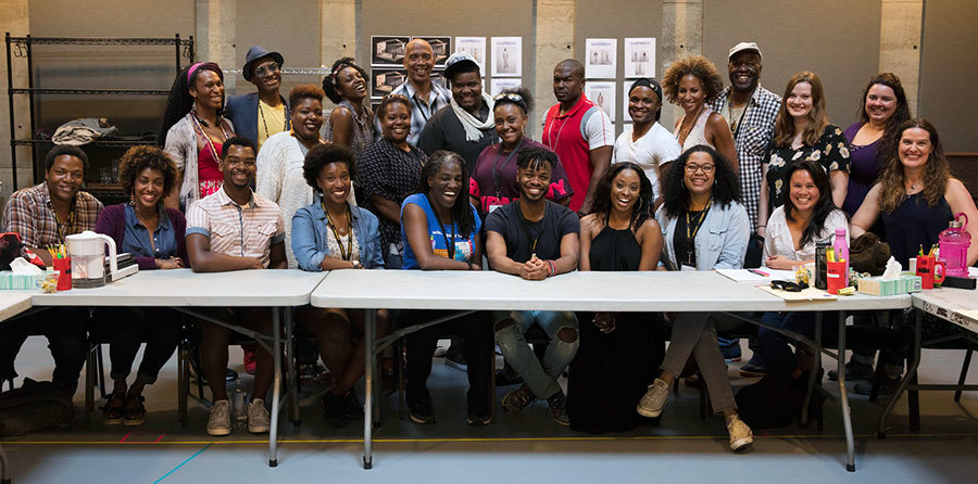 Color Purple Cast Rehearsal Banner