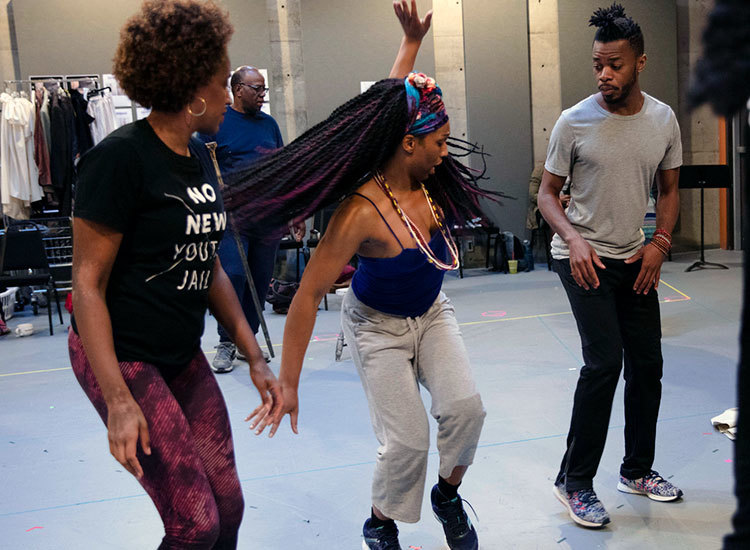Color Purple Rehearsal Sticky