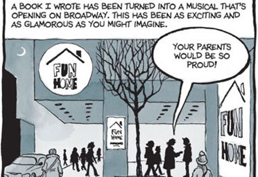 Fun Home Graphic Novel Slate Sticky