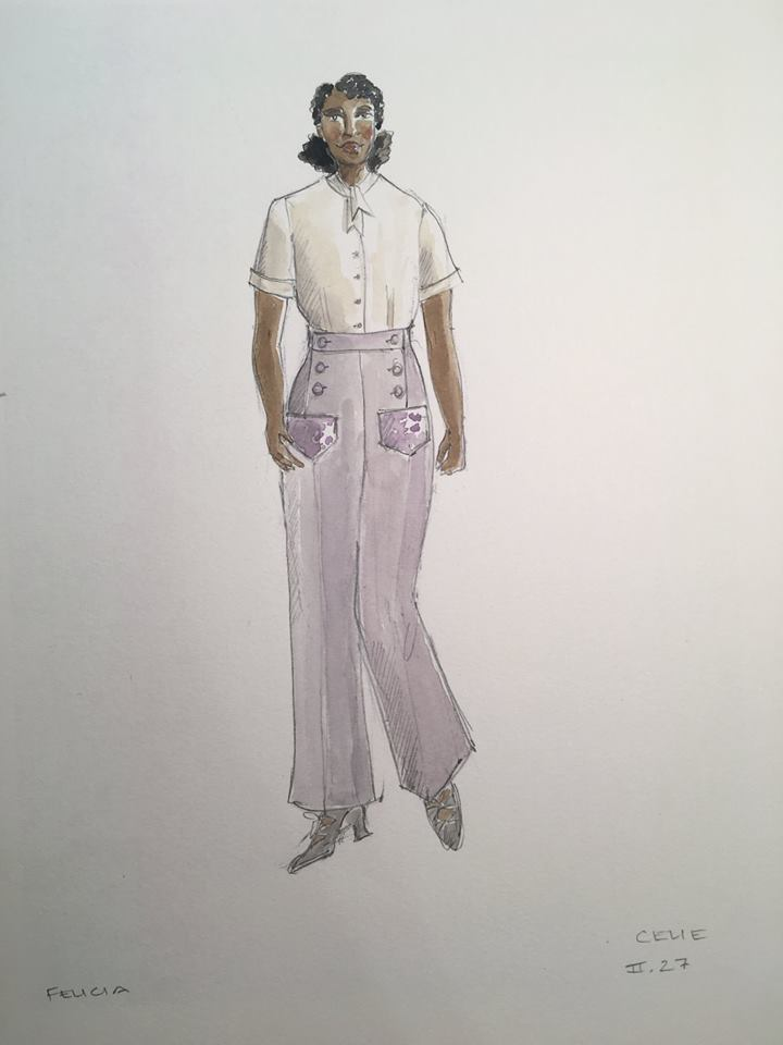 Kara Harmons Early Designs For Celie In The Color Purple