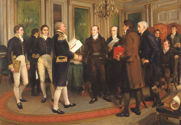 Signing Of Treaty Of Ghent 1812 Sticky