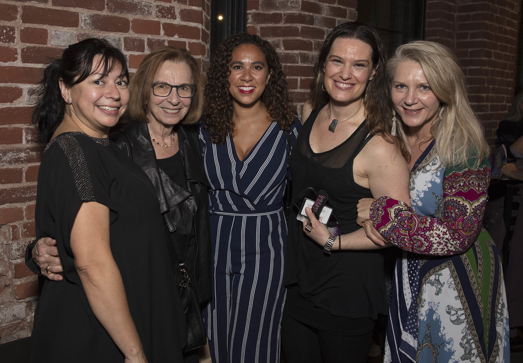 Diana Gerding with members of the production team at the opening night for The Color Purple