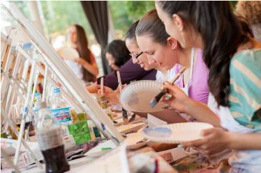 pcs blog uncork some art with a painting party