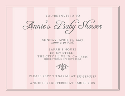 Registry Info On Baby Shower Invites futurecliminfo