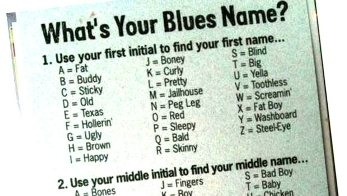 What's Your Blues Name?
