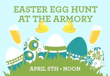 Easter Egg Hunt at the Armory