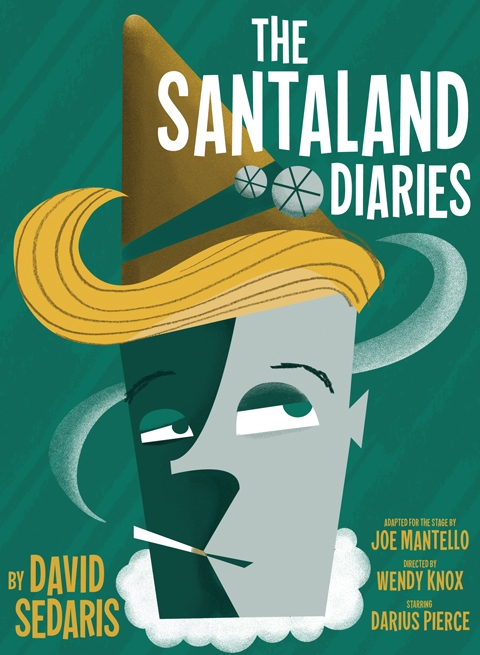 The Santaland Diaries art and photos.