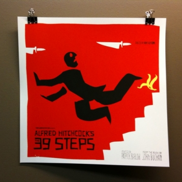 Limited edition screen print for The 39 Steps